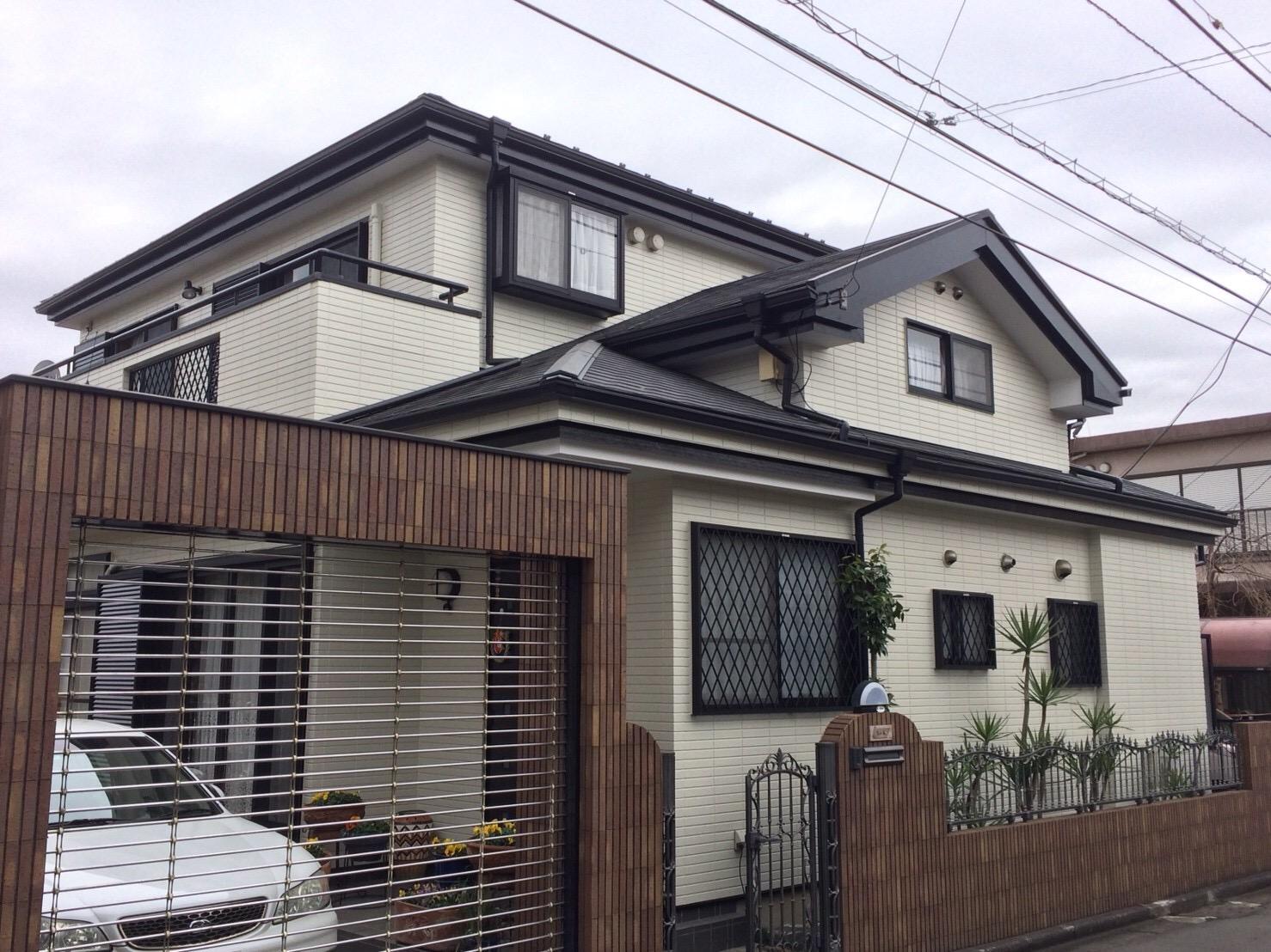 綾瀬市小園S・Y様 外壁屋根塗装・雨樋交換・シャッター改修
