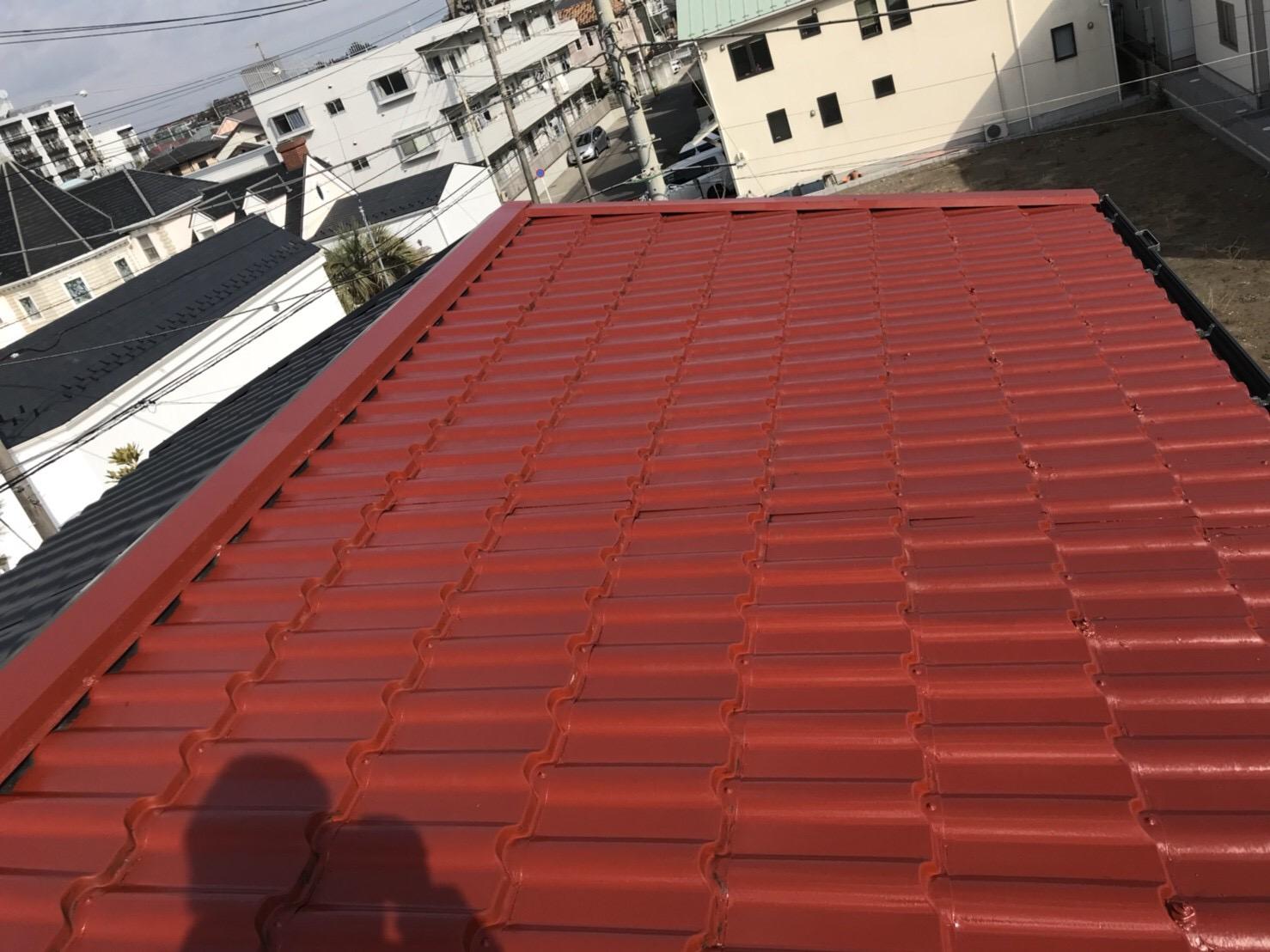 屋根塗装サビ止め下塗り