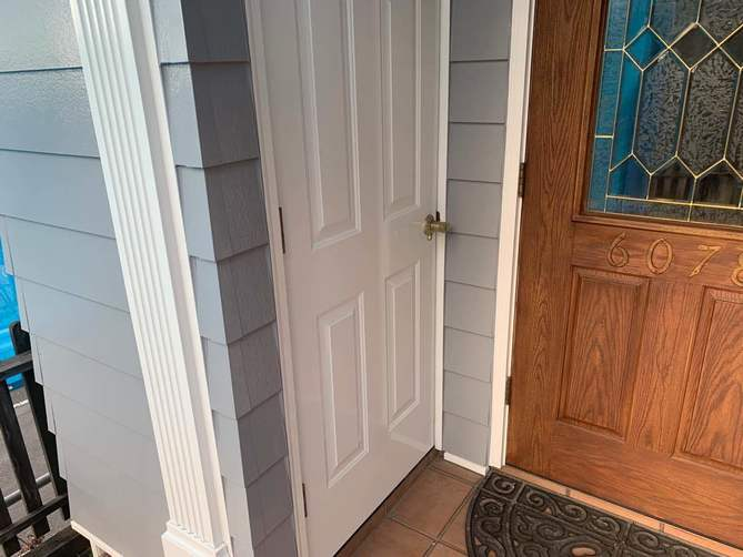 玄関扉 塗装後