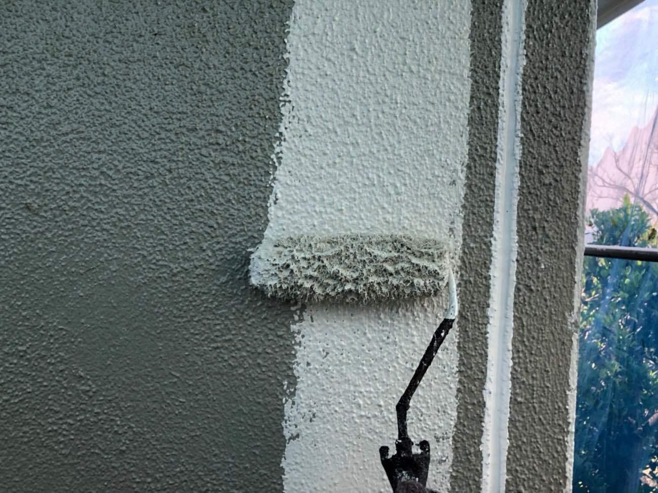 外壁塗装(ガイソーウォールマイティシリコンW-11)