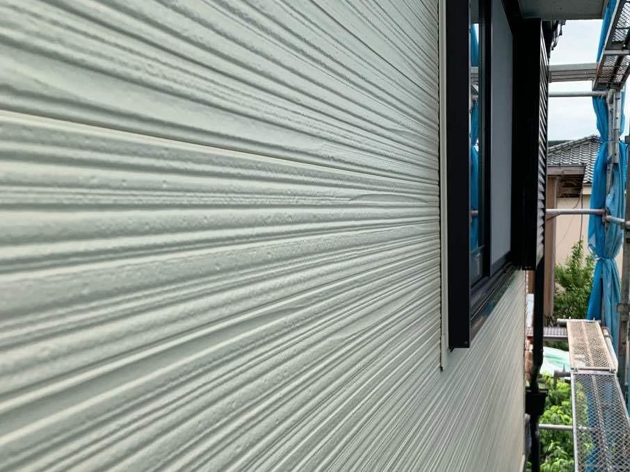 2階部分外壁 サイディングカバー工法 施工後