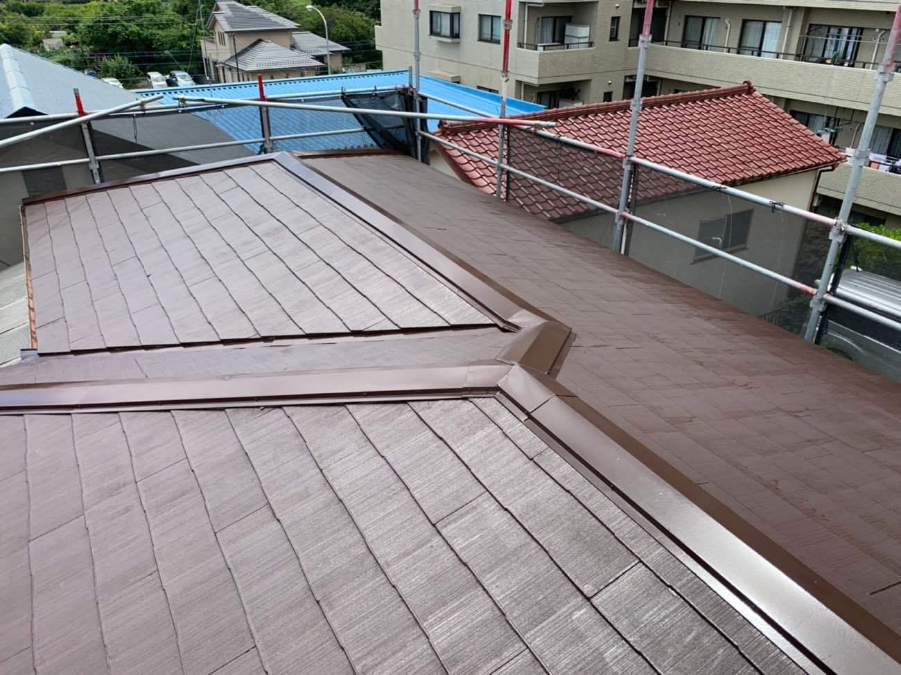 青葉区G様邸|屋根塗装・棟板金交換工事