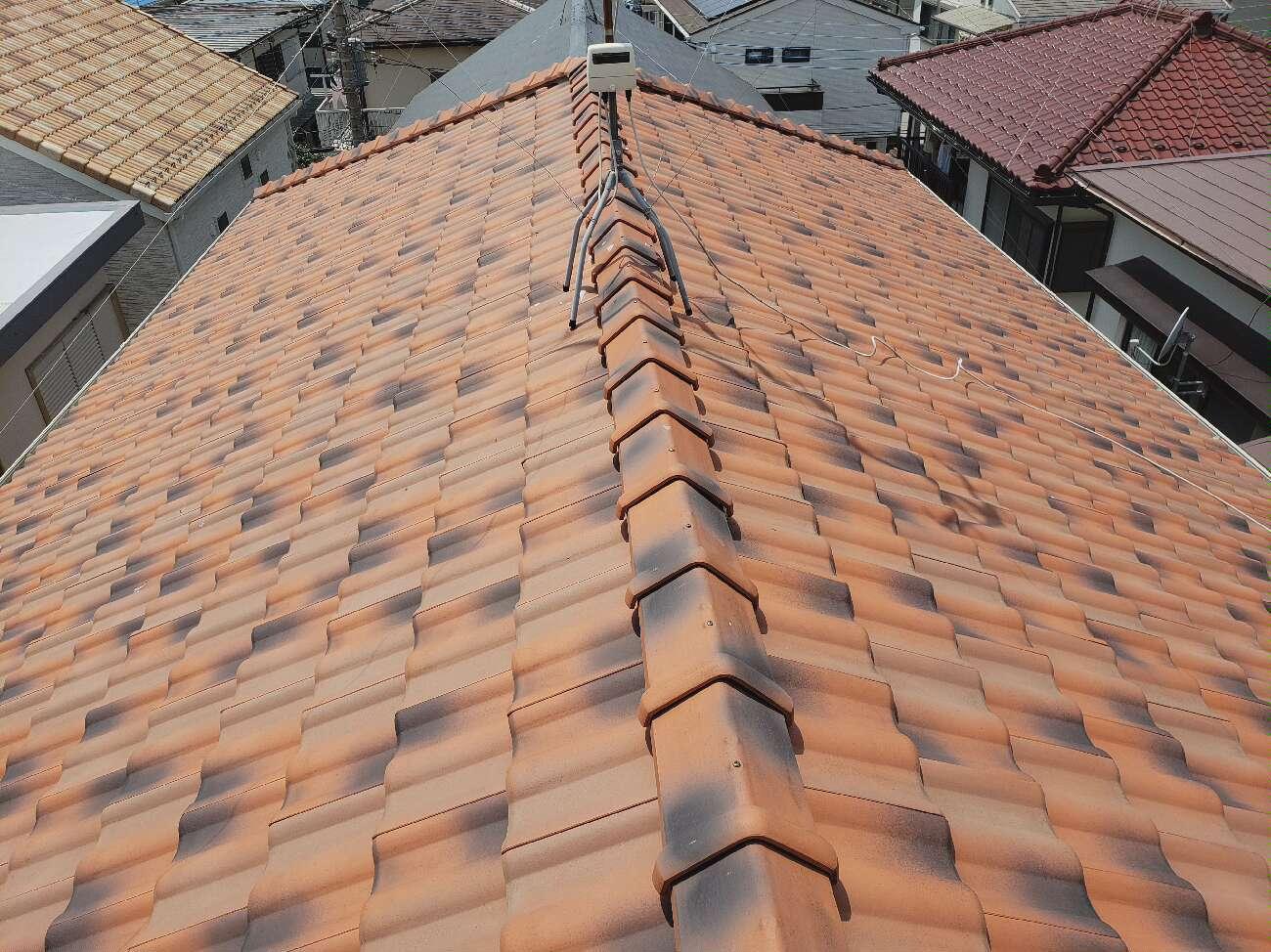 海老名市K様邸|棟瓦補修,屋根瓦修繕,玄関タイル工事