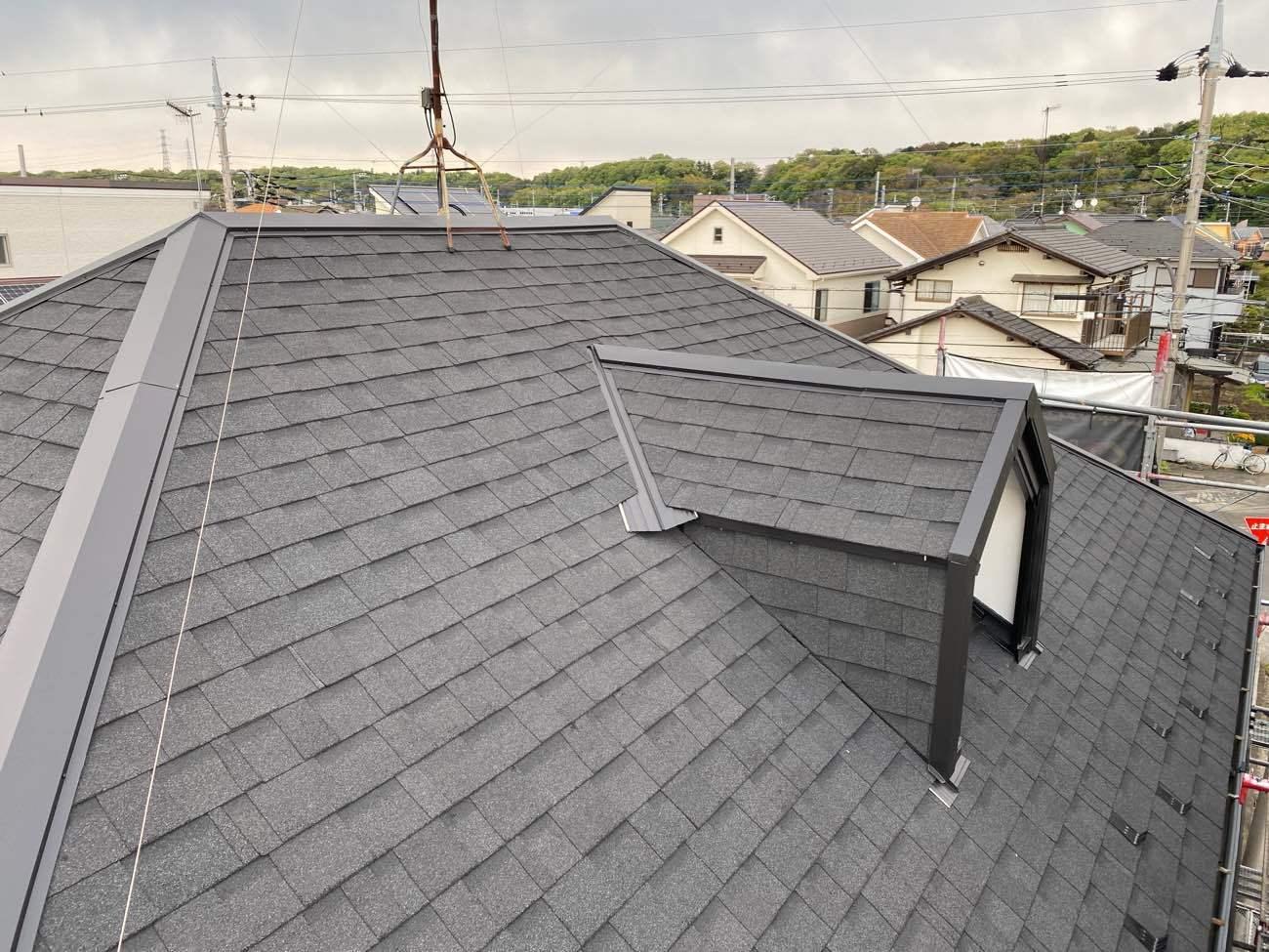 相模原市南区 N様|屋根重ね葺き工事 付帯部塗装工事